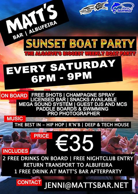 Sunset Boat Party – SOLD OUT!