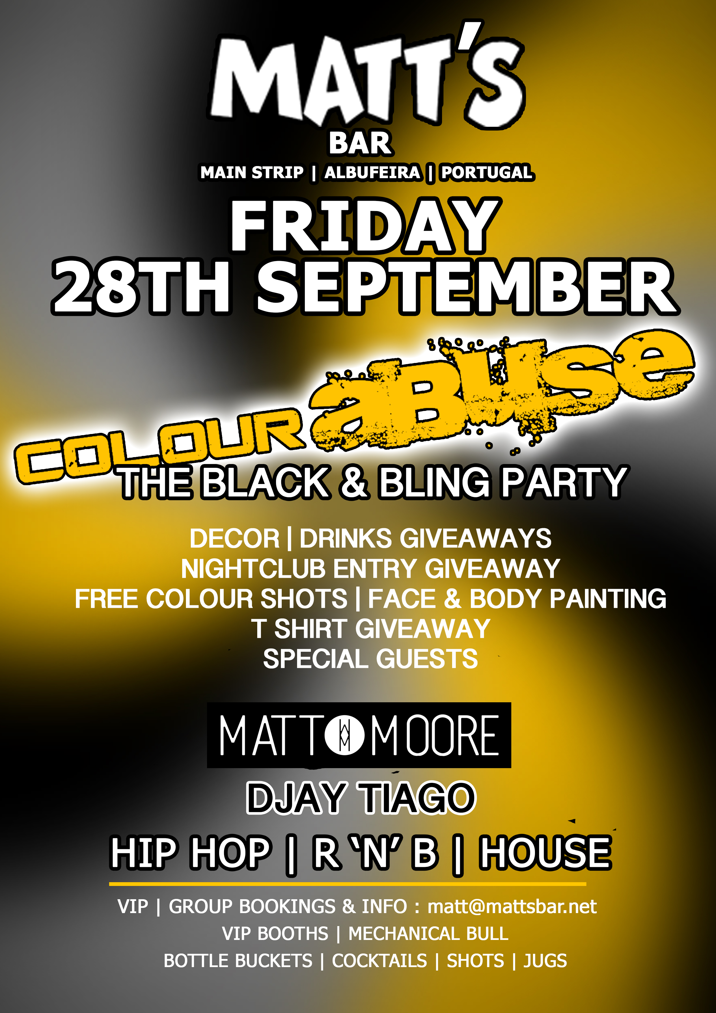 COLOUR ABUSE – THE BLACK & BLING PARTY