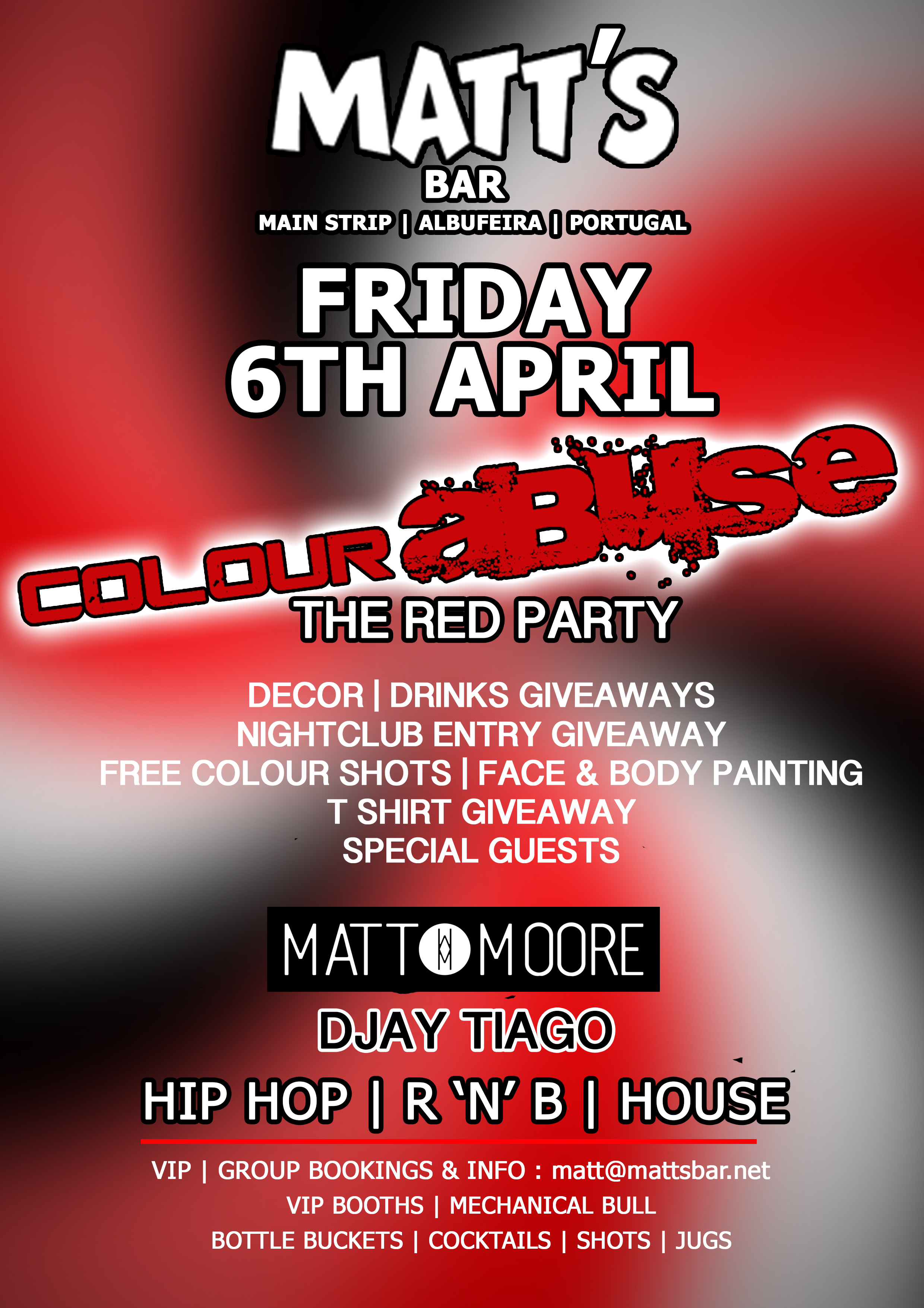 COLOUR ABUSE – THE RED PARTY