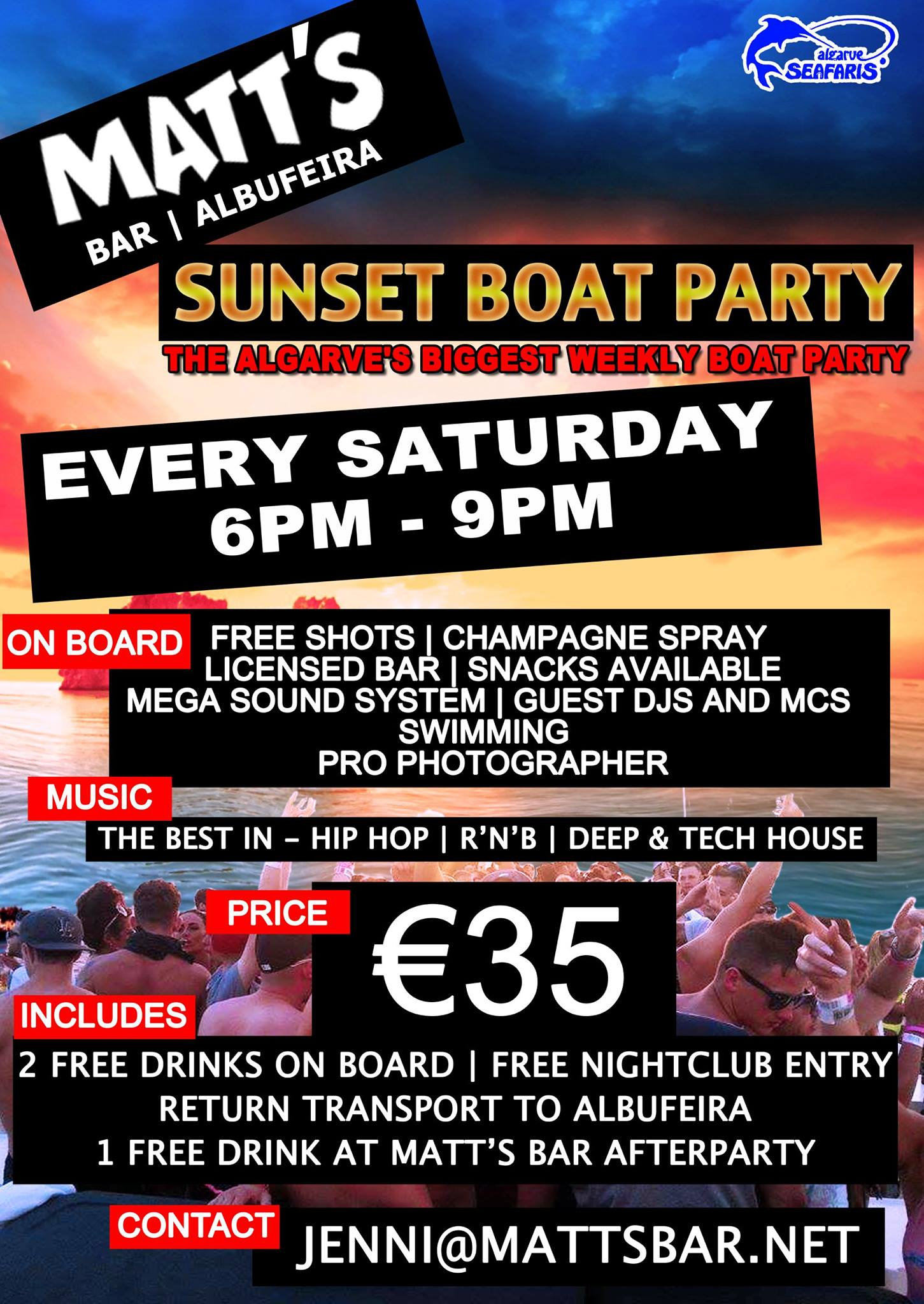 Sunset Boat Party – SOLD OUT!!!!!