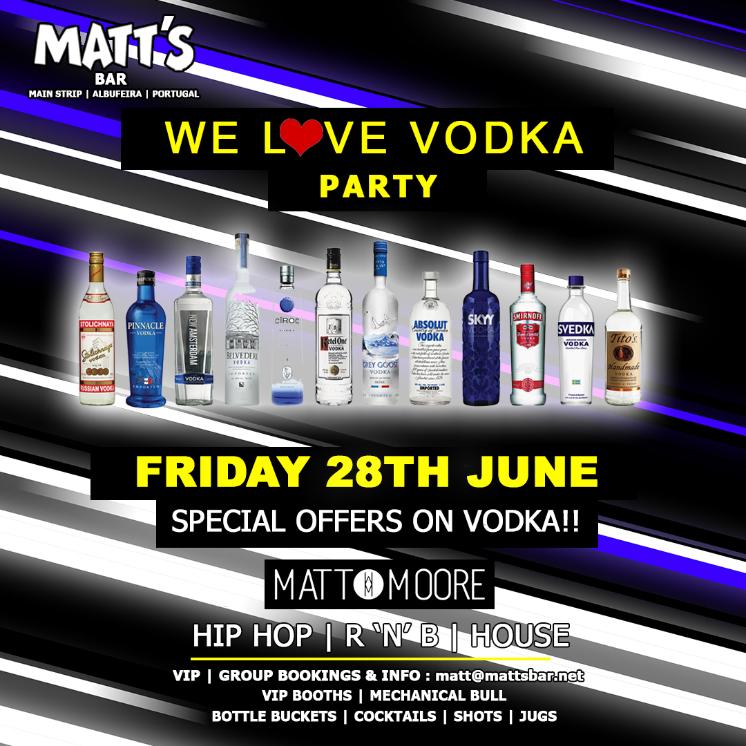 Matt's Loves Vodka