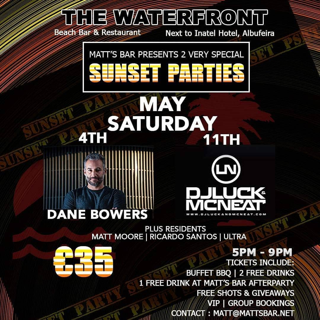 SUNSET PARTY – DANE BOWERS – SPECIAL EVENT