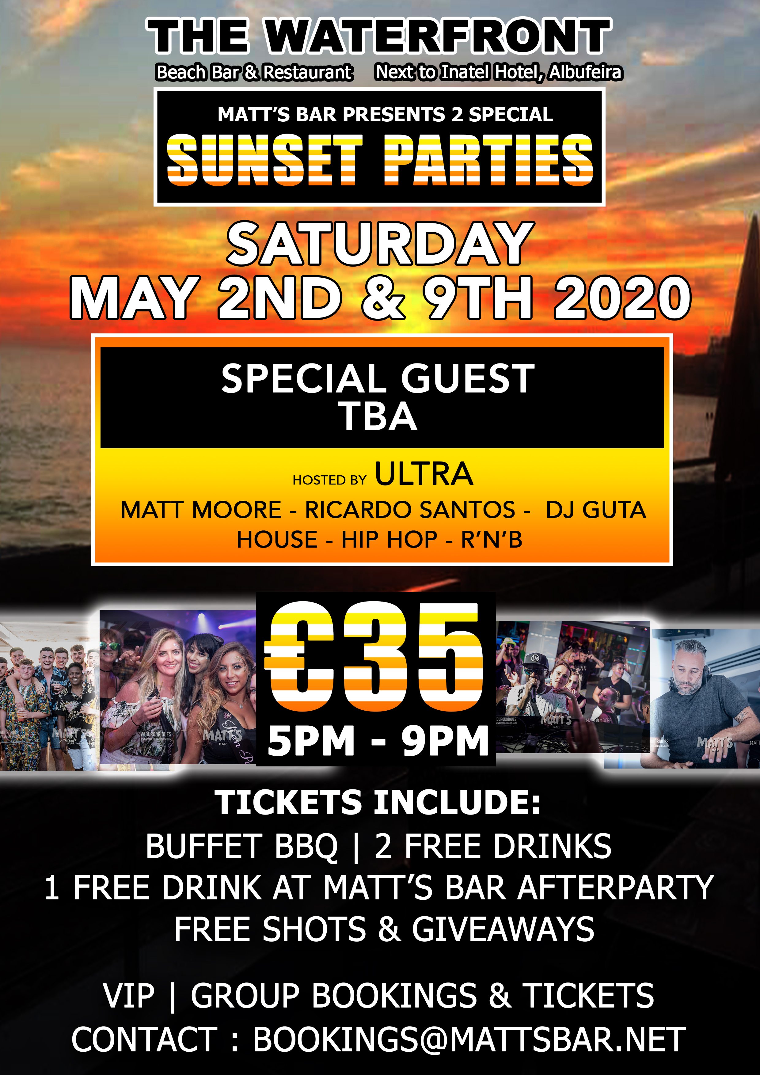 SUNSET PARTY – SPECIAL EVENT