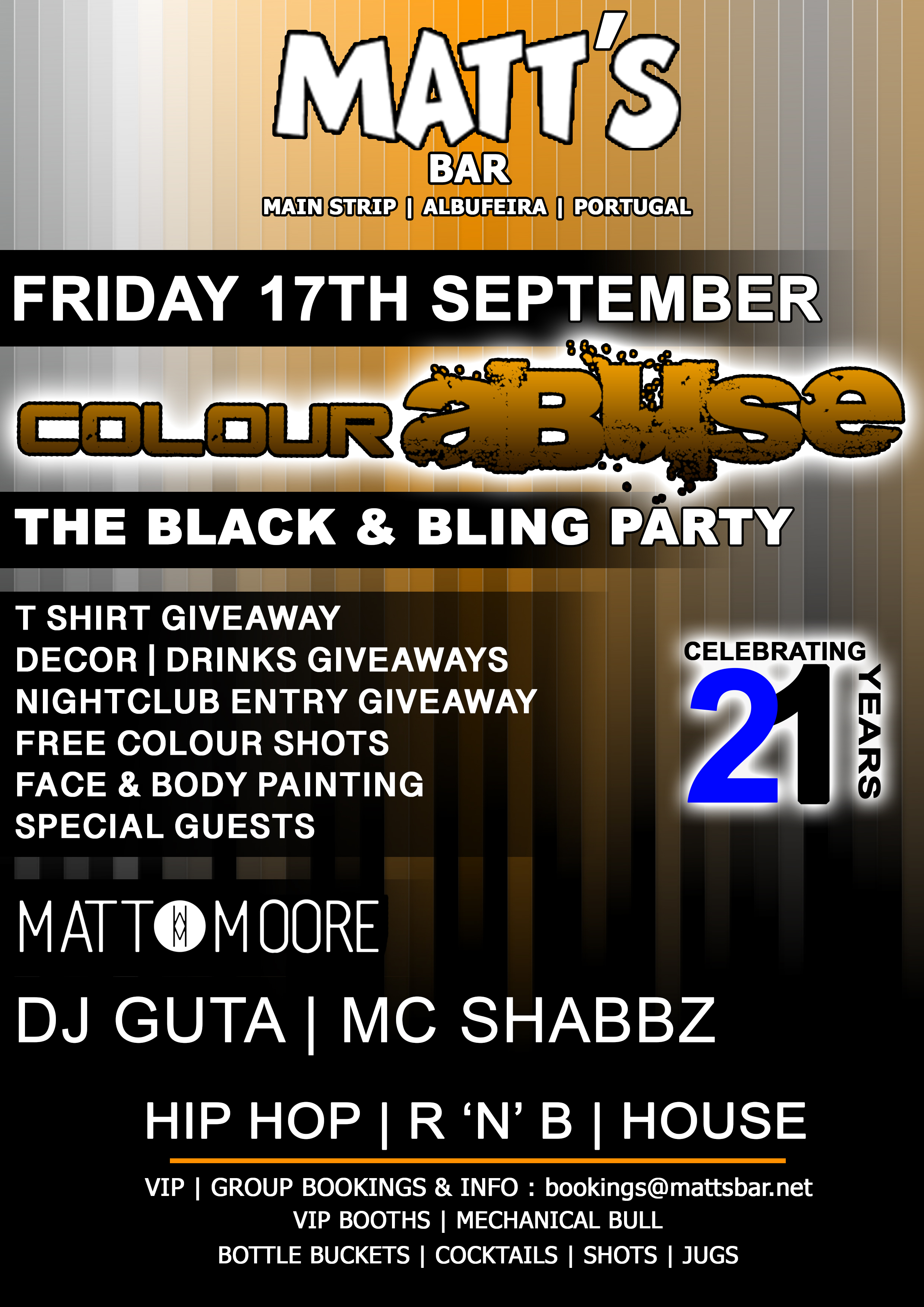 THE BLACK AND BLING PARTY