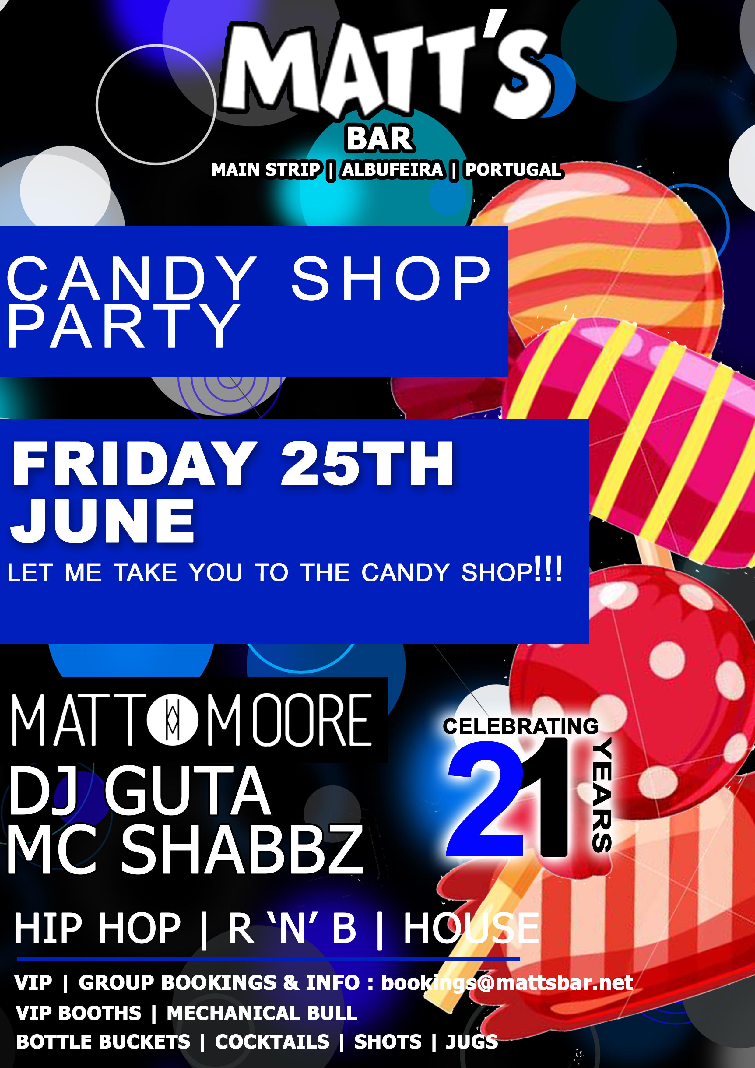 THE CANDY SHOP PARTY