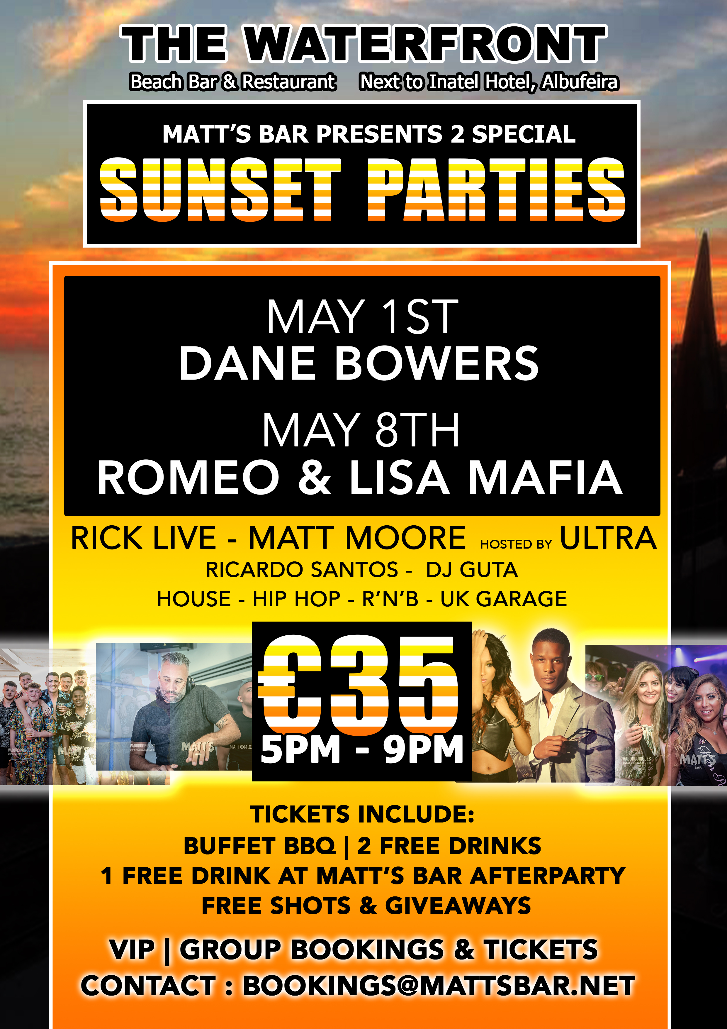 SUNSET PARTY SPECIAL EVENT – ROMEO & LISA MAFIA